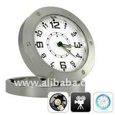 Motion Detection Hidden Table Clock Camera