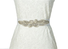 The new diamond bride handmade beaded ribbon belt