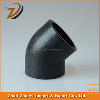 Price list of pe pipe fittings 45 degree elbow and Socket 45 elbow