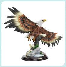 Designer resin wingspan eagle statues for sale