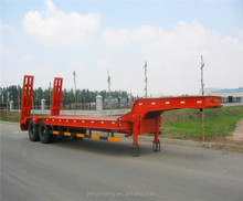 3 Axle 70 Tons Heavy Duty Equipment Transport Low Bed Trailer Sale for Algeria