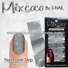 popular 100% real nail polish strips glitter nail strips
