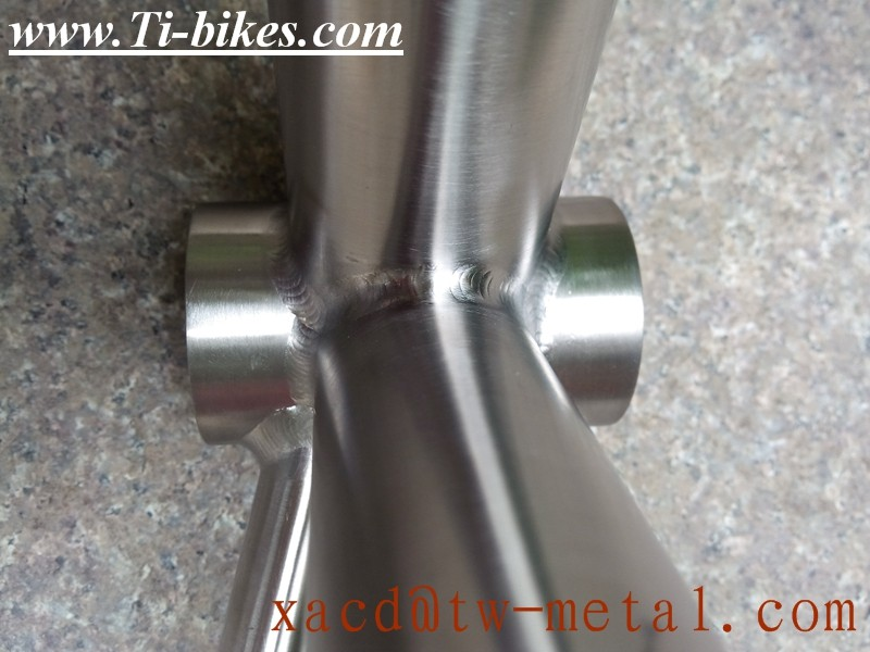 Titanium MTB Bike Frame Hand Brush Chinese titanium MTB bike frame