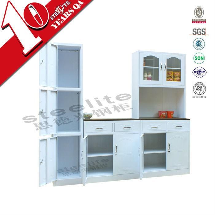 Acero de alto brillo muebles de cocina modular de pared - Acero modular precios ...