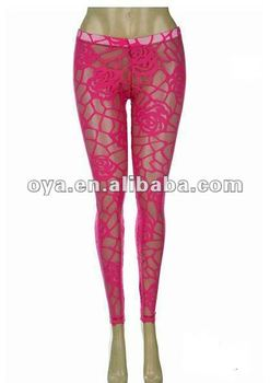 Rose Lace Leggings for women sex ladies leggings
