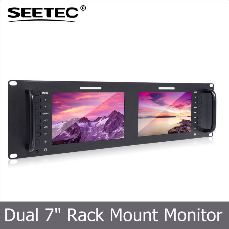 Peaking focus assist function high resolution 1280X800 ips panel control inputs lan lcd rack mount display 7 inch hd 1080p monit