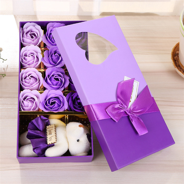 12 soap flower creative simulation rose soap flowers Christmas present