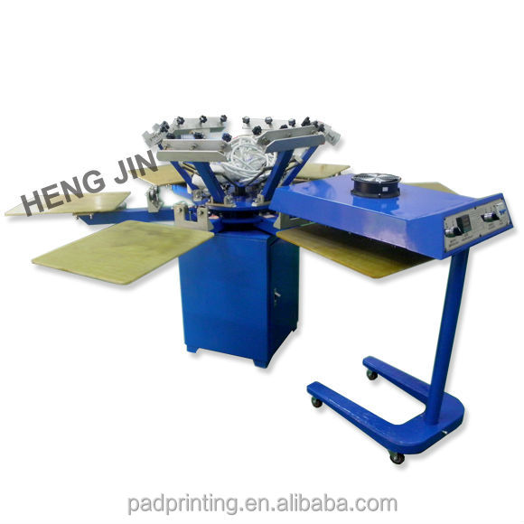 special Manual rotary 4 color t-shirt printing machine in Ali express