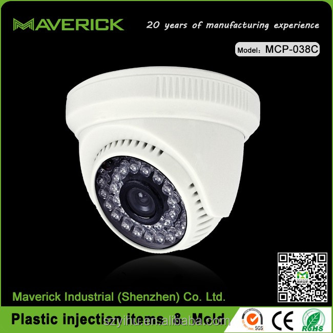 HK vision cctv camera with shining housing