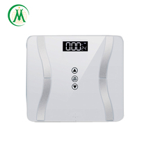 2017 fashion smart blue blacklight LED weight scale that measures body fat