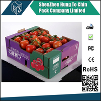 Kraft paper cardboard packing boxes of tomatoes