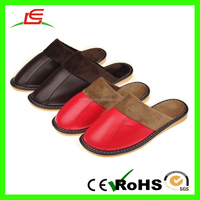 Winter Leather Couple Home Cotton Warm Slippers Indoor Shoes Men And Women