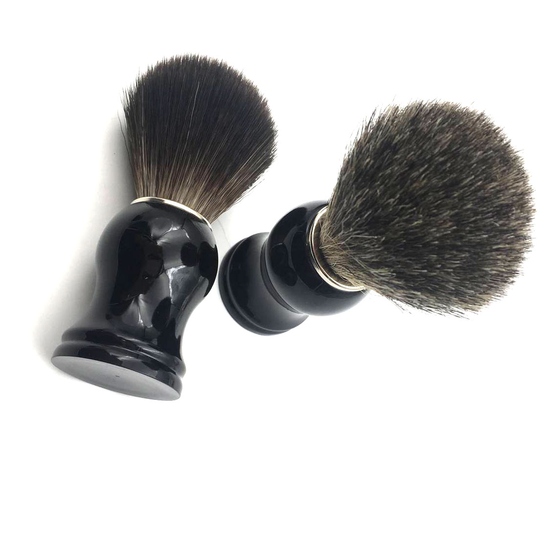 Hot selling product high quality black color Resin Handle Pure Badger shaving brush for men shave
