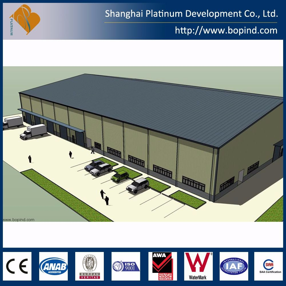 China long-span prefabricated warehouse storage shed of low cost