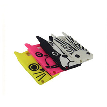 Cartoon smart phone case zebra/dog/cat and other animal shape silicone rubber phone case cover
