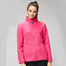 Plain Dyed Technics and 100% Polyester Material Mature Women Fleece Jacket