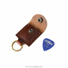 Cow Leather Guitar Pick Holder Case
