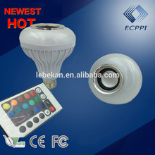 China cheap phone controller bluetooth music led bulb light manufacturer