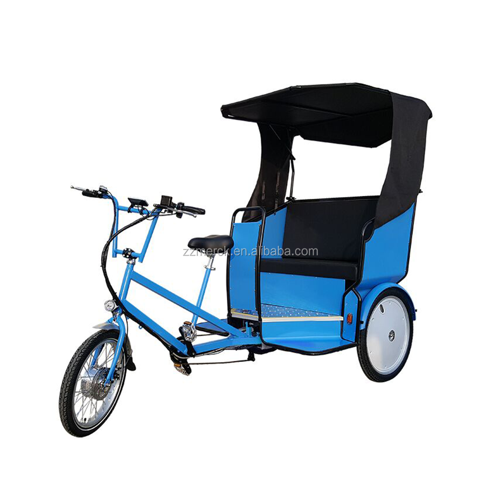 Buy Three Wheel Adult Pedal Assisted Electric Tricycle Rickshaw With Passenger Seat