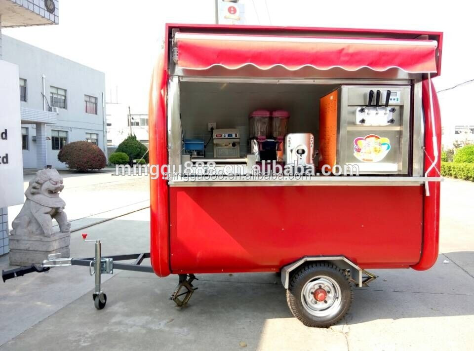 2016 CE Approved mobile carts design, food trailor electric go cart, caravan tornado potato food cart