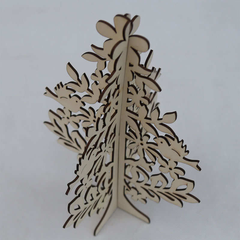 Natural eco-friendly wooden christmas decoration tree