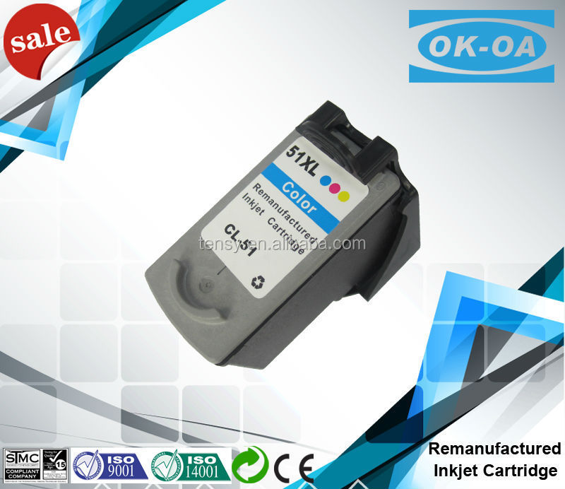 compatible inkjet cartridge cl-51 reset chip color cartridge for Canon printer ink cartridge
