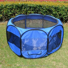 Large Pet Dog Playpen With Portable Exercise Fence Kennel Cage Folding Crate