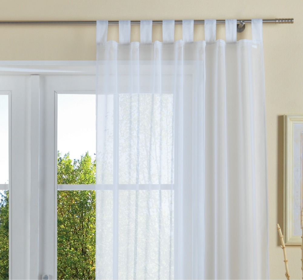 3 DAYS DELIVERY wholesale atmosphere fashion voile valance/lace/sheer curtains for the living room with loops with tape