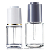 Best selling 18ml 30ml 0.6oz 1oz transparent glass plastic essential oil dropper bottle for cosmetic