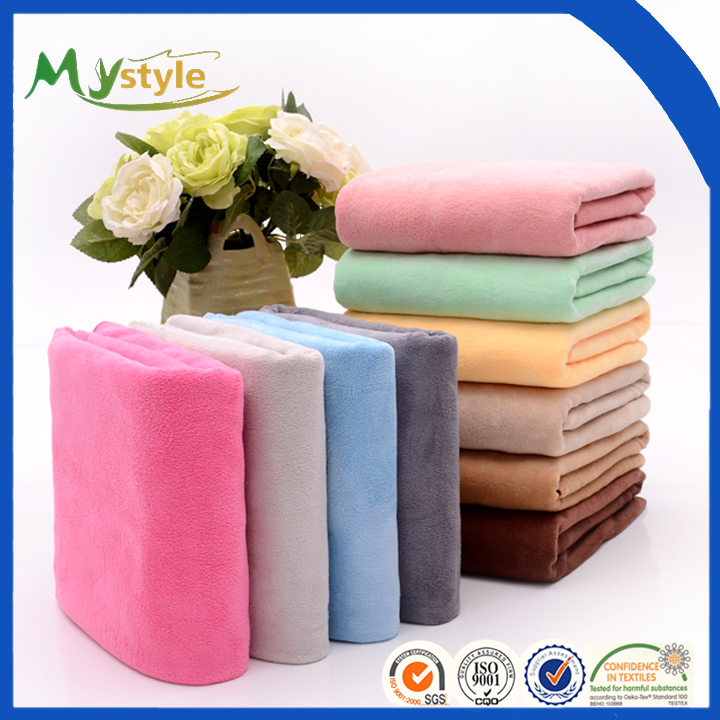 2016 high quality wholesale customized logo 100% organic cotton bath towel with stock