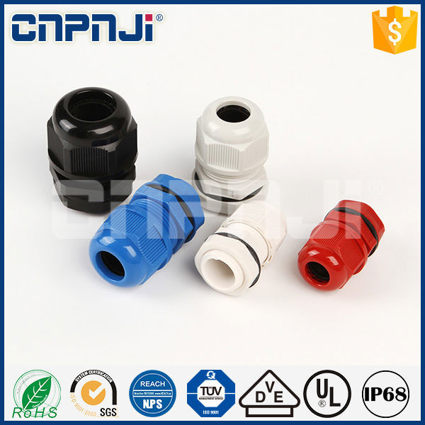Hot selling nylon red plastic cable gland g1/4 waterproof compression gland for wholesales