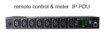 16A 8 Outlets IEC C13 Smart SNMP PDU for Remote Network Power Management