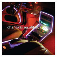 EL wire car kit with cigarette lighter driver for car decoration