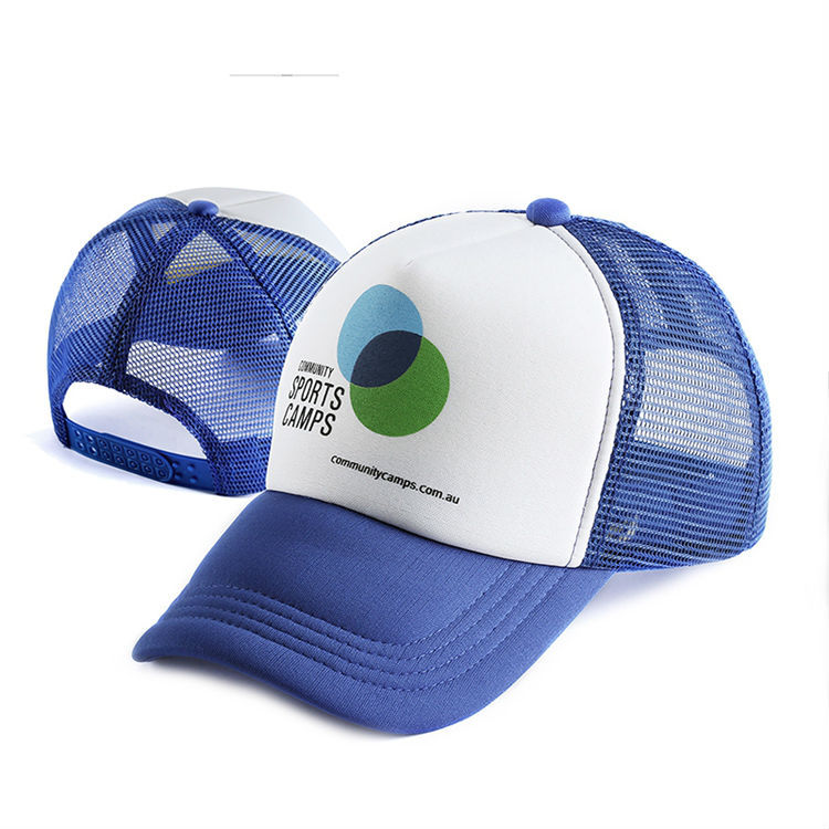 cheap mesh trucker cap with printed logo