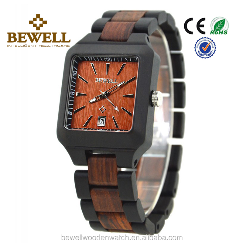 cool watches for men and women in wood square watches brand wood watch bewell