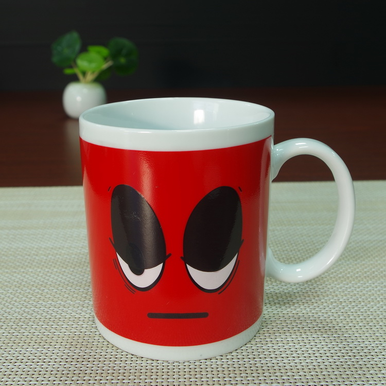 300ml coffee tea cups magic red eyes white porcelain ceramic stone mug