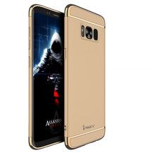 iPaky Electroplated Frame with Oil Coated Full Protective Armor Back Cover Phone Case for Sumsung Galaxy S8/S8 Plus/S8+