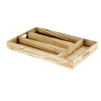fsc certificate wooden storage tray with the compartments, antique wood fruit and food tray