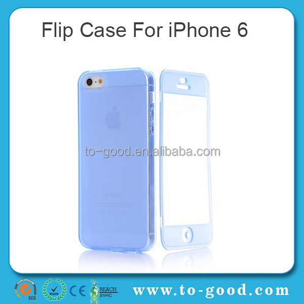 Alibaba Express China Product Clear Blue Moible Phone Accessory 0.3mm Ultri Thin Flip TPU Mobile Phone Cover For Case iPhone 6