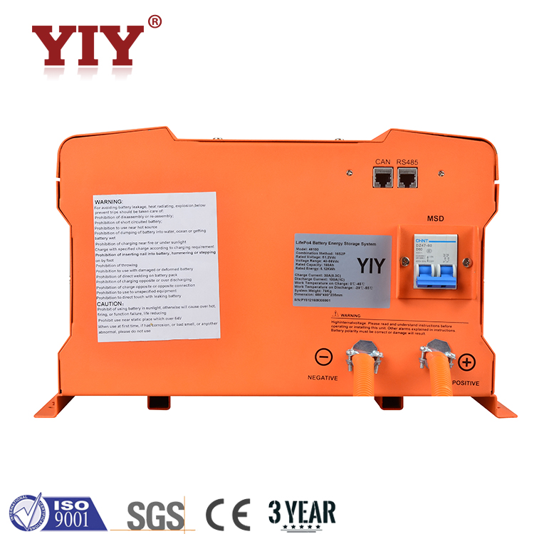 Excellent high temperature performance and long life cycle3.2v 16S Lifepo4 battery for Hold 2.6KWH