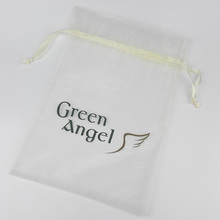 Factory Price purple organza bags customized, fabric printing organza bag
