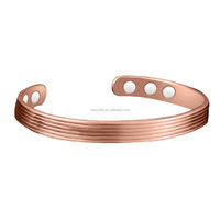 MECYLIFE High Quality Magnet Stone Copper Split Indian Copper Bracelets