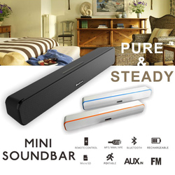 Super pure and steady sound quality with multiple input methods bluetooth soundbar