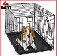 Collapse Dog Crates For Dogs With Metal Dog Kennel Tray