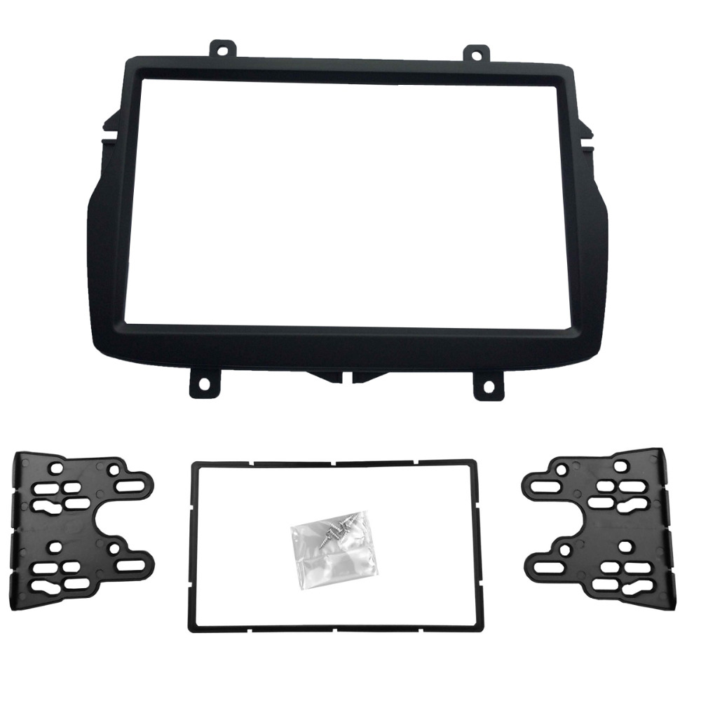 2 DIN Car Radio Frame Fascia for 2016 Daewoo Royale / LADA Vesta Double Din Stereo Refitting Mounted Installation Trim Bezel Kit