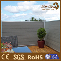2016 new garden design wood plastic composite fence