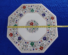 Marble Medallion Floral White Table Top