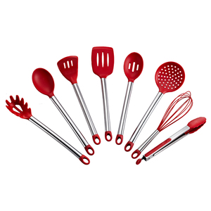 Innovative BPA Free 8-Piece Nonstick Silicone Kitchen Utensils Heat Resistant Cooking Utensil Set