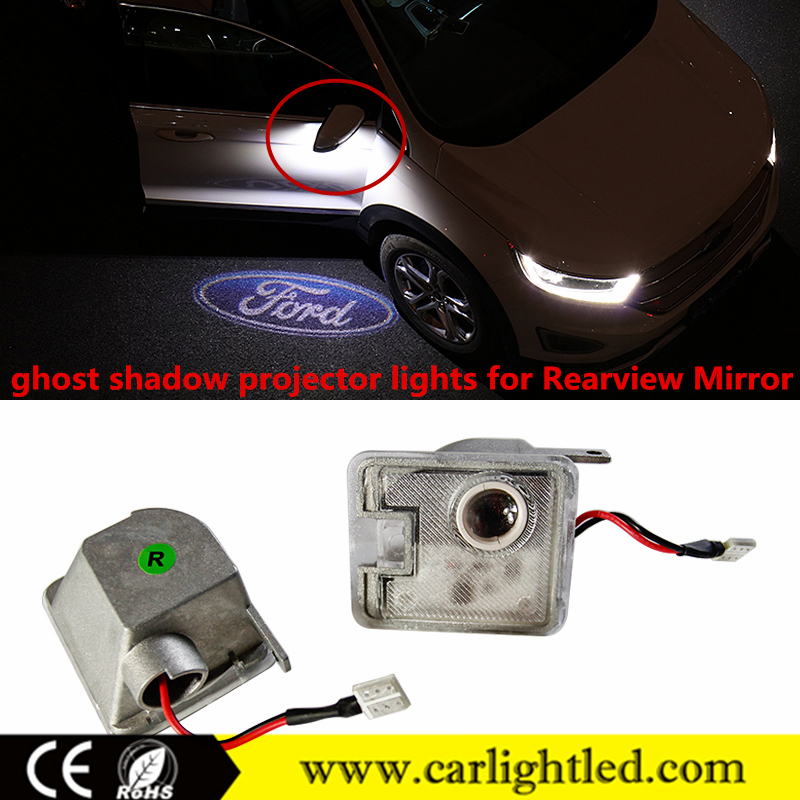 2016 New Products KEEN custom led car logo for ford rearview mirror ghost shadow projector laser light for focus side mirror