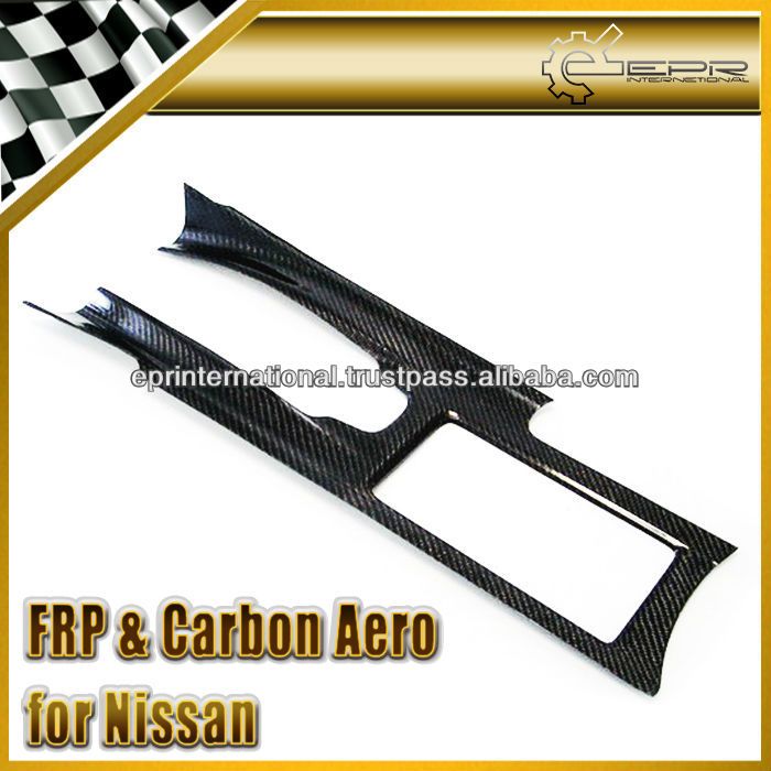 For Nissan R35 GTR GT-R OEM Style Carbon Fiber Interior Center Console Cover Left Hand Drive